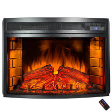 akdy 25 in freestanding electric fireplace insert heater in black