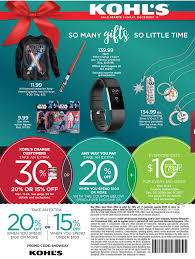 kohls 2017 sales deals ads