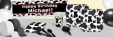 cow print birthday theme cow print party supplies shindigz