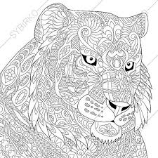 coloring pages of tigers tiger coloring page zentangle doodle by coloringpageexpress