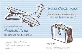 farewell party invitation sketchy airplanes farewell party invite going away party invitations