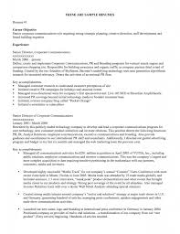 Resume 10 Key objective for job resume berathen com
