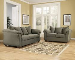 Full Living Room Set Living Room White Shelves Gray Recliners Brown Chairsgray Sofa