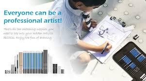 amazon com ghb 36pcs drawing and sketching pencils set graphite