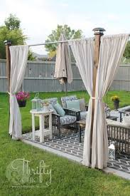 railing curtain rod and 2 posts deck curtains outdoor curtains