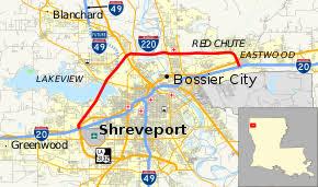 map louisiana highways interstates interstate 220 louisiana