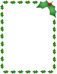 christmas tree clip art borders u2013 happy holidays