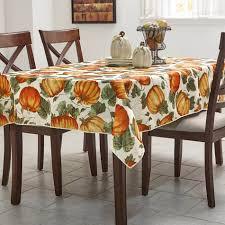 essential home pumpkin tablecloth kmart