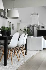 Charles Eames White Chair Design Ideas Scandinavian Minimalist Living Room With Eames Chairs And Plants