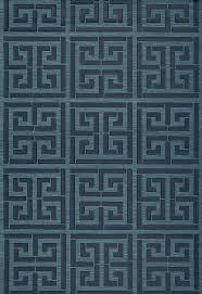 wallcovering wallpaper greek key sisal in peacock schumacher