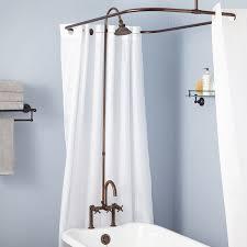 High End Shower Fixtures Sebastian Shower Conversion Kit Rim Mount Faucet Cross Handles