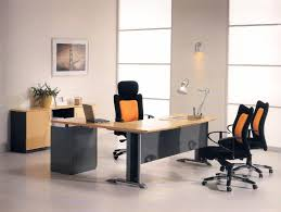 Modern Executive Office Table Design Furniture Office Natural Modern Executive Desk With Orange And