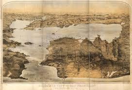 san francisco map painting goddard s map of san francisco 1876