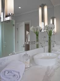 Bathroom Mirror Sconces Console Sink Cottage Bathroom Vicente Burin Architects
