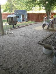 How To Make A Pea Gravel Patio Happy At Home A New Gravel Patio