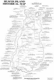 A Map Of Michigan by Beaver Island History Map