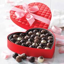 heart box of chocolates 29 pc gourmet truffles heart box gift boxes chocolate gift