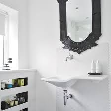 Black Mirror Bathroom White Bathroom With Black Mirror Homestead Pinterest