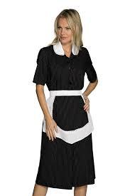 hotel femme de chambre blouse femme de chambre manches courtes et tablier noir et blanc