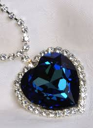 titanic blue heart necklace images Replica of the heart of the ocean necklace one of my favorite jpg