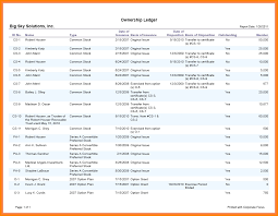 9 corporate stock ledger template ledger page