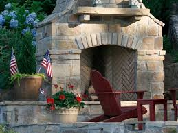 stone fire places outdoor stone fireplaces hgtv