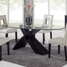Glass Oval Dining Table Foter - Glass for kitchen table
