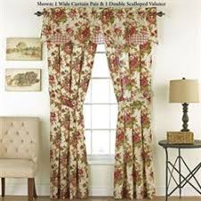Brown Floral Curtains Floral Curtains Touch Of Class