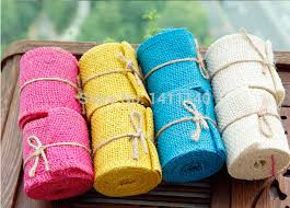burlap ribbon wholesale free shipping new 2015 hot pink lace hessian jute burlap ribbon