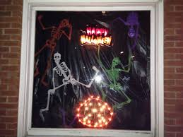 dollar tree halloween background i used dollar tree skeletons and hung them by clear fishing line