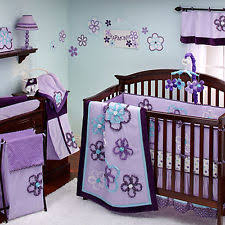 Teal And Purple Crib Bedding 9 Pc Pretty In Purple Crib Bedding Set By Nojo Ebay
