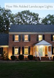 colonial house outdoor lighting how we added landscape lighting simple diy landscaping and lights