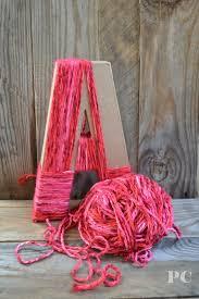 best 25 yarn covered letters ideas on pinterest yarn letters