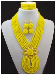 aliexpress bead necklace images Latest new african wedding beads bridal jewelry sets handmade jpg