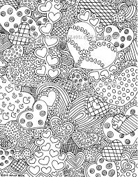 difficult coloring pages the hearts have it coloring page this is a digital file purchase
