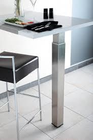 pied inox cuisine pied de snack télescopique carré accessoires de cuisine