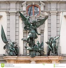 angel sculpture at the zeughaus in augsburg stock photo image