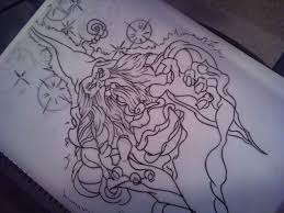 wizard tattoo outline by needlesncolor on deviantart