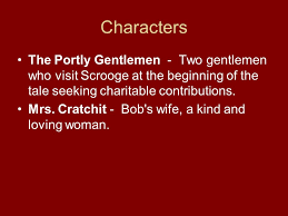 Seeking Characters A Carol Introduction Characters Ebenezer Scrooge The