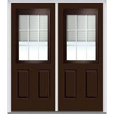 Home Depot 2 Panel Interior Doors by Mmi Door 72 In X 80 In Internal Blinds And Grilles Left Hand 1 2