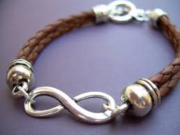 infinity bracelet leather images Braided leather bracelet infinity bracelet men women unisex jpg