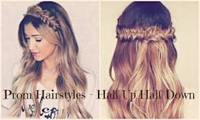 2016 prom hairstyles half up half down prom hairstyles youtube