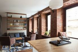 Ideas For Small Apartment Living Studio Apartment Stays Authentic By Keeping Its Brick Walls Intact