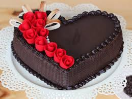 heart shaped chocolate heart shaped choco truffle cake magic cake bakingo