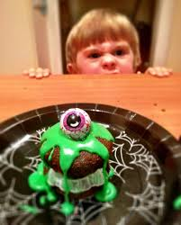 halloween monster slime cakes my square frying pan