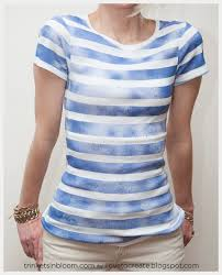 Mixing Spray Paint Colors - ilovetocreate blog diy striped t shirt with spray paint