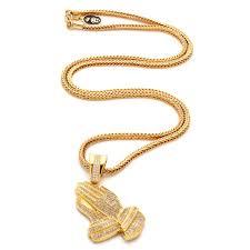 praying necklace 14k gold cz praying necklace hip hop pendants king