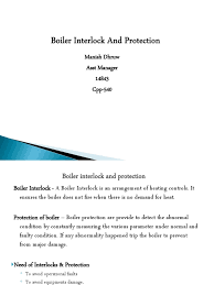 boiler interlock and protection boiler mechanical fan