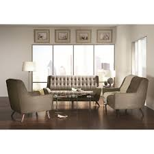 Living Room Sets Bob Mills Dexter Collection Mid Century Modern Sofa Dove Gray