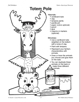 totem pole totems free printable and patterns